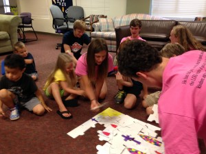 "Youth and children work together to ""build the church"""