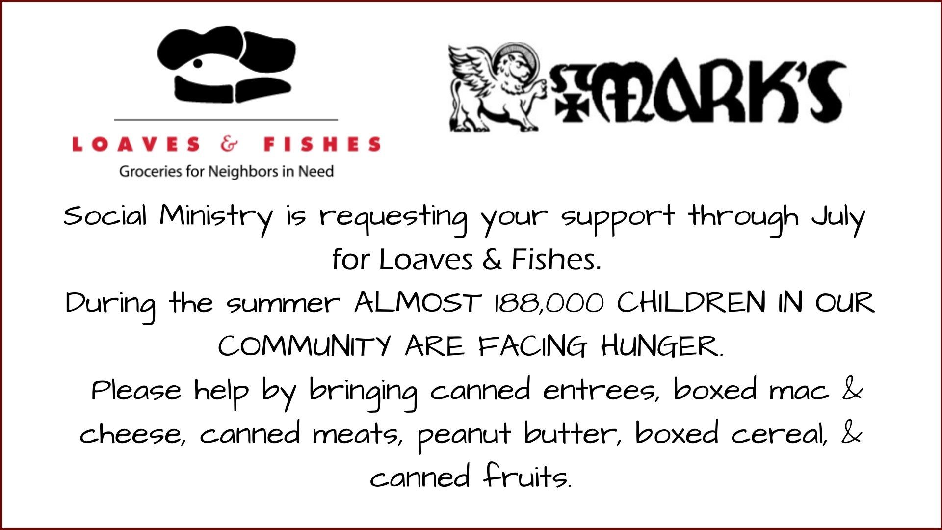 Social Ministry for Loaves & Fishes